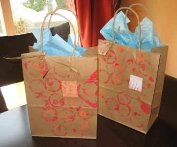 Hand painted gift bags all free crafts negle Image collections