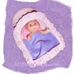 Salt Box Doll Cradle