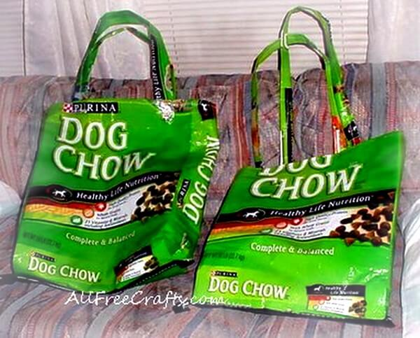 make a sturdy tote from a dog food bag