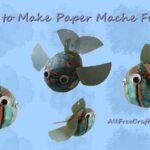 how to make paper mache fish