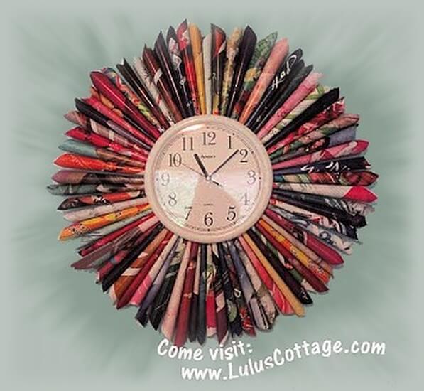 recycled magazine clock