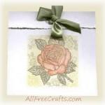 Rose Motif Greeting Card