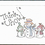 stamped snowman card
