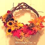 autumn leaf wreath
