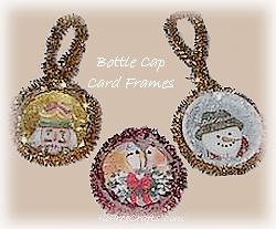 bottle cap card frames