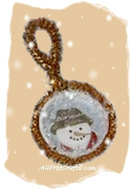 snowman bottle cap