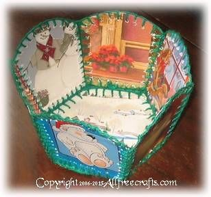 christmas card basket