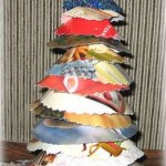 Recycled Christmas Card Trees