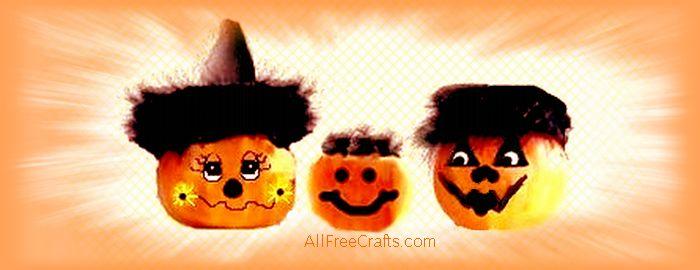 decorate mini pumpkins with faces