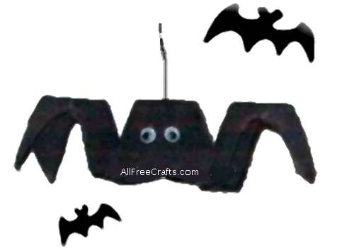 simple bat made from cardboard egg carton