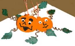 felt pumpkin people