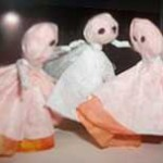 Dancing Coffee Filter Ghosts