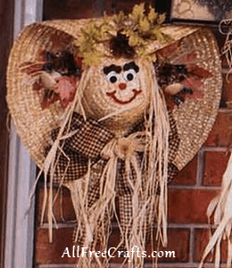 Happy Hat Scarecrow Wreath All Free Crafts