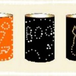 Punched Tin Can Halloween Luminaries