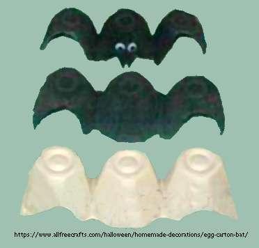 making egg carton bats