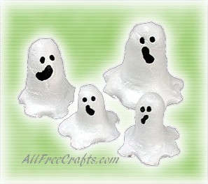 salt dough ghosts