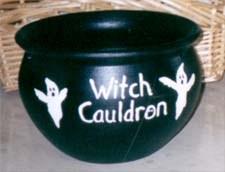 clay pot witch cauldron