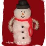 pill bottle snowman