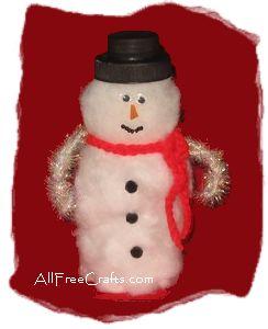 Pill Bottle Snowman - All Free Crafts