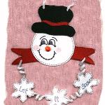 let it snow craft foam hanger