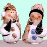 Mr and Mrs Snowman Mittens