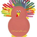 Paper Plate Turkey with Hand Print Tail