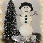 Shimmering Styrofoam Snowman