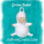 snow baby light bulb
