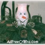 painted hurricane glass snowman