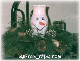 Acrylic Enamel Paint >> Hurricane Glass Painted Snowman