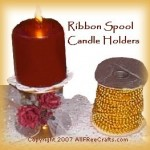 spool candle holders