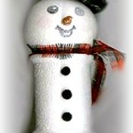 Spool Snowman