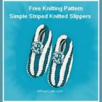 knitted striped slippers pattern