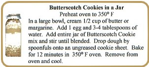 Butterscotch Cookie Label