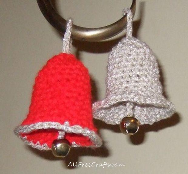 Free christmas bells crochet pattern for Knitted christmas bells