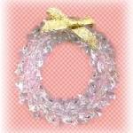 Beaded Crystal Wreath Tree Trim