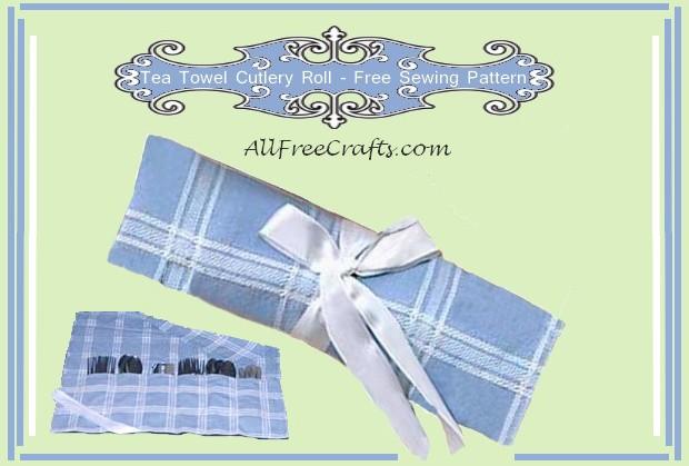 tea towel cutlery roll