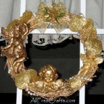 homemade cherubs wreath