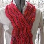 shazam knitted scarf