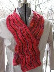 Free Knitting Patterns For Scarves With Beads : Shazam Beaded Scarf Pattern