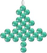 beaded Christmas tree pattern