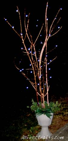Spray Paint Branches For Christmas