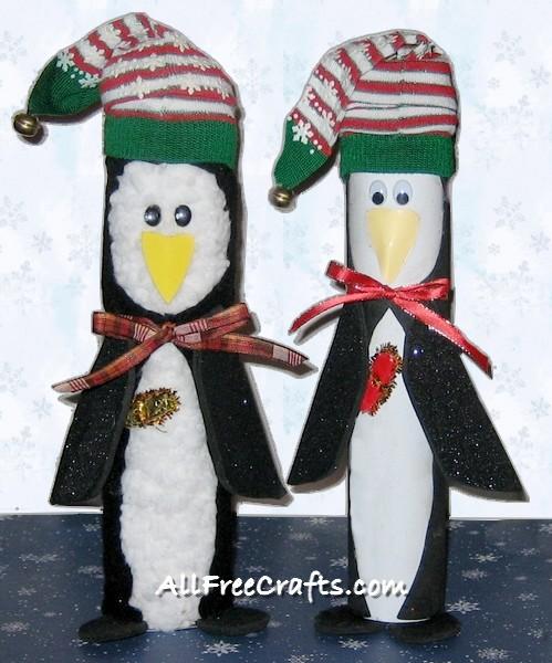 paper towel roll penguins
