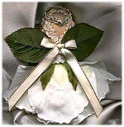 back view of rose angel