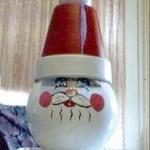 Glass Bowl Santa