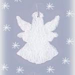 white glitter ornaments
