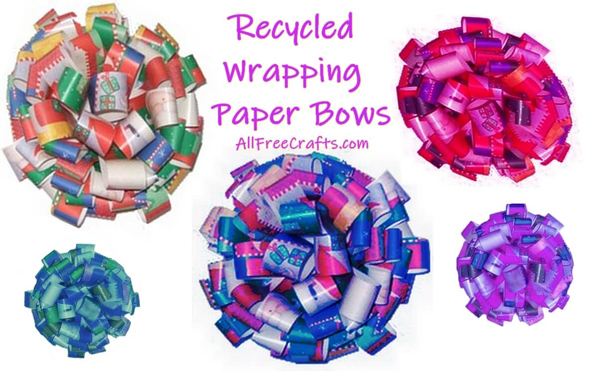 recycled wrapping paper bows