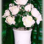 Pot of Silk Roses