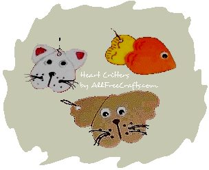 heart shape craft foam critters
