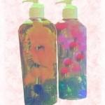 floral liquid soap bottles